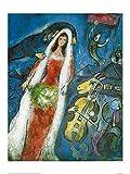 1art1 Marc Chagall - La Mariee Poster Kunstdruck 80 x 60 cm