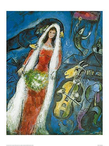 Marc Chagall - La Mariee Kunstdruck