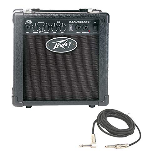 Peavey Backstage 2 Channel 10 Watt Guitar Combo 6' Speaker Transtube Amplifier with 1/4' Instrument Cable