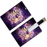 Unidades flash USB para pulgar Kobe Los Angeles Basketball Player 24 Forma de tarjeta de crédito Black Mamba Bryant Lakers Super Star Fade Away Flush U Disk Memory Stick Almacenamiento Purple Gold Dyn