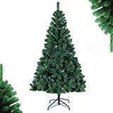 SoFun Direct Shop 4FT Christmas Tree Artificial Full Christmas Pine Tree Small Unlit Hinged Fir Holiday Tree with Sturdy...