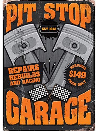 PJ4u - Cartel retro de estaño, 30,5 x 40,7 cm, para garaje con texto en inglés 'We Do Repairs'