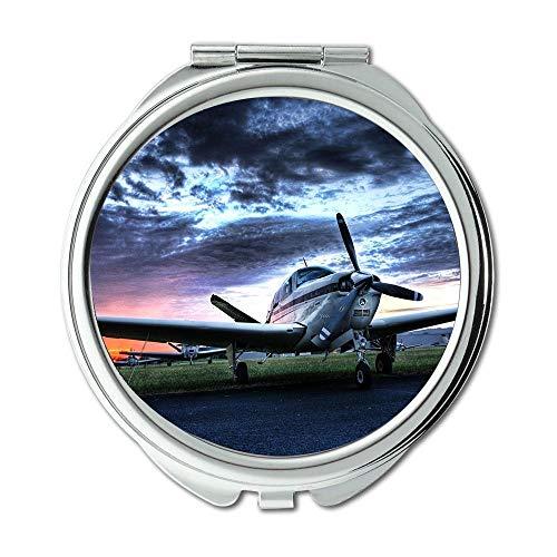 Yanteng Flugzeug Desktop, Spiegel, Schminkspiegel, Kämpfer Archetypen, Taschenspiegel, tragbarer Spiegel