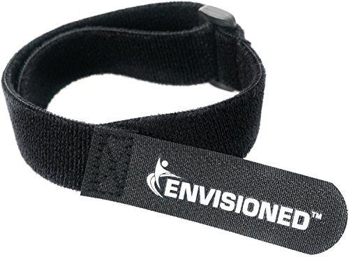 Velour Cinch Straps 1.5' x 30' - 6 Pack, Soft Touch Microfiber Reusable Hook and Loop