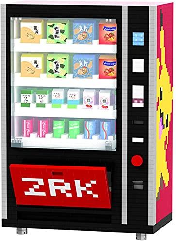 Mini Máquina Expendedora Bloques De Construcción Los Accesorios De La Ciudad De Ladrillos Beben Kits De Caja De Alimentos Establecer Juguetes De Bricolaje para Niños (2560 Unids)