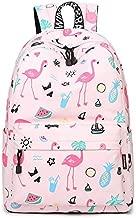 لطيف على ظهره فلامنغو مقاوم للماء كمبيوتر محمول على ظهره bookbags حقائب السفر المدرسية daypack للفتيات النساء