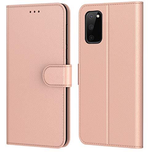 AURSTORE Hülle für Samsung Galaxy S20 FE 4G/5G Handyhülle, Premium PU Leder Schutzhülle,mehrere Farben,Tasche Flip Hülle Brieftasche Etui Schutzhülle für (Galaxy S20 FE (6,5 Zoll), Rose Gold)