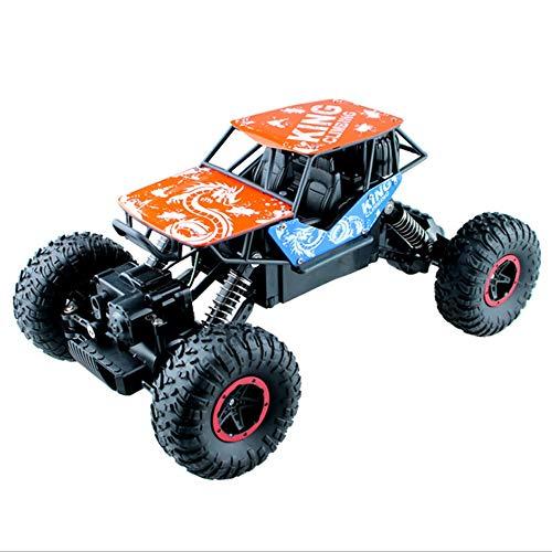 Poooc Coche teledirigido,  1/16 Modelo Deportes Off- road de carreras de camiones controlado de radio de 2, 4 GHz orugas 4WD Vehículo eléctrico de alta velocidad carrera rápida Hobby Buggy interior Juego