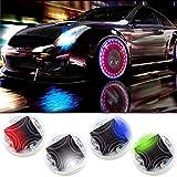 KYOUDEN 車用 ソーラーホイールランプ タイヤホイールライト LEDタイヤガスノズルキャップランプ 15種類点灯パターン 防水 簡単取付 4個セット
