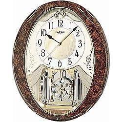 Rhythm Magic Motion Oval Wood Effect Clock (Oval Wood Effect Clock)