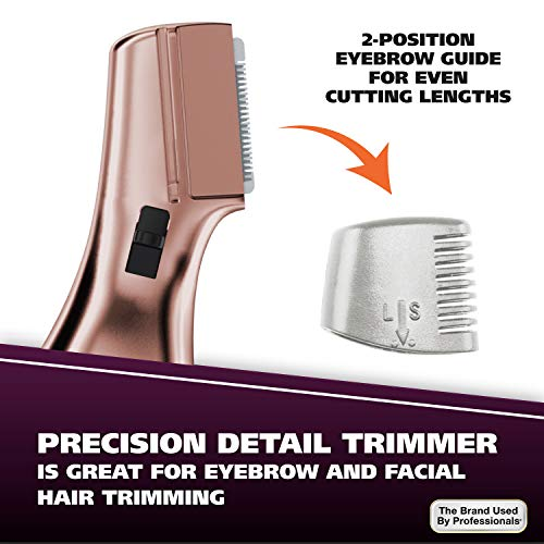 Wahl Pure Confidence Rechargeable Trimmer 9865-2901 Rechargeable Electric Waterproof Shaver For Women's Grooming with 3 Interchangeable Heads