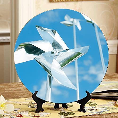 Quantity limited ALALAL Windmill Toy Queen Pinwheel Ceramic Decorative Outlet ☆ Free Shipping Dis Plates