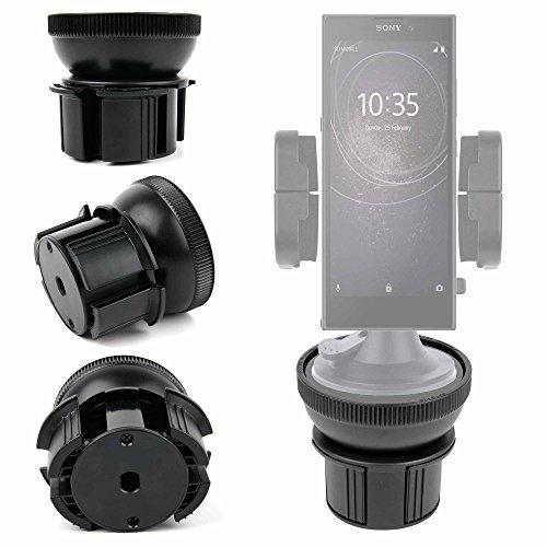DURAGADGET Support Voiture 4 en 1 pour Sony Xperia L2, XA2 et XA2 Ultra - Grille d'aération/parebrise/Tableau de Bord/Porte gobelet