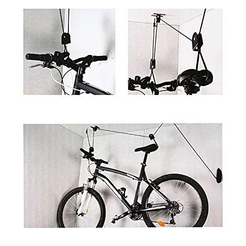 REPLOOD Soporte elevador de bicicletas Portabicicletas Suspensión Colgador Bicicleta Techo Cantina Garaje Polea Bicicleta