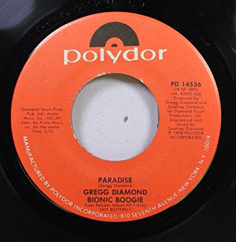 Gregg Diamond Bionic Boogie 45 RPM Paradise / Chaind