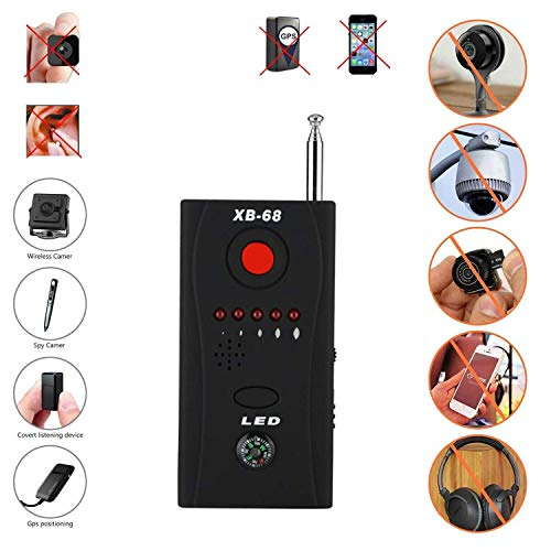 TBDLG Anti Spy Detektor, Signal Detektor RF-Signal Spy Bug Detektor Wireless-Scanner Scan-GPS Tracker Finde