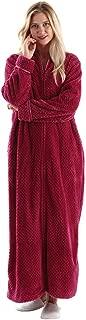 Oksun Womens Fleece Warm Robe,Cozy Fluffy Long Bathrobe,Plush Night Dressing Robes for Women