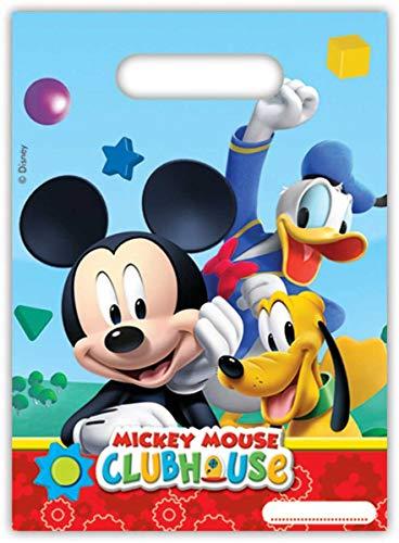 Folat B.V. Pack 6 Bolsas Fiesta, Mickey Mouse, Unica, 6 Unidades