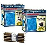 Penguin Marineland BIO-Wheel 200 & 350 Replacement Filter Cartridge 12-Pack & Bio-Wheel Assembly Bundle