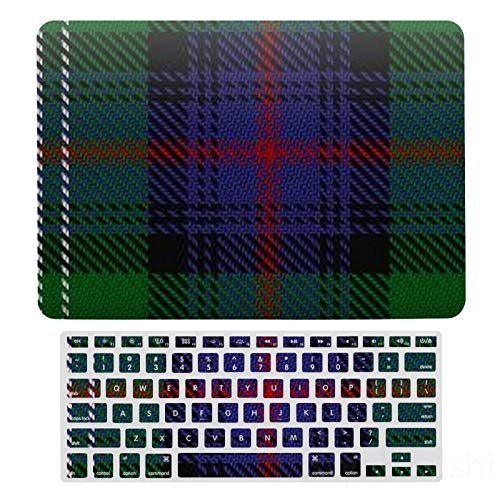 MacBook New Pro 13 Touch Case A1706、A1989、 A2159, Hard Shell & Keyboard Case Cover For Apple Mac New Pro 13 Touch, Scottish Clan Sutherland Tartan Laptop Protective Shell Set