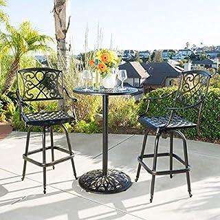 amazon com cast aluminum patio furniture sets patio furniture rh amazon com Vintage Metal Outdoor Furniture Vintage Metal Outdoor Furniture