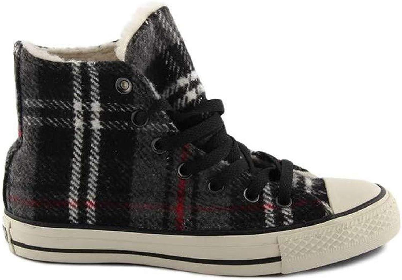 Converse shoes alte All Star CT SPEC HI Charc Plaid in Tessuto invernale con Fantasia 118763