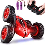 Theefun Ferngesteuertes Auto, 360° 4WD RC Stunt Auto 2,4 Ghz Radio Fernbedienung Buggy Auto, High Speed Spielzeugauto, 2 wiederaufladbare Batterien, Auto Spielzeug Rennfahrzeug für Kinder