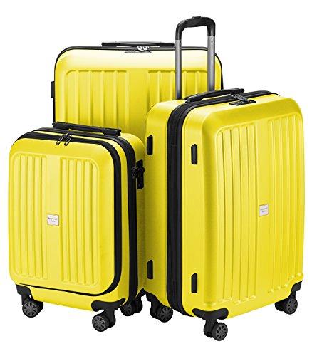 HAUPTSTADTKOFFER - X-Berg - Carry on luggage On-Board Suitcase Cabin Bag Hardside Spinner Trolley 4 Wheel, TSA, 55 cm,Yellow mat