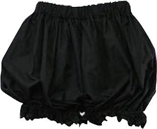 見せパンツ - かぼちゃパンツ(黒・Black)