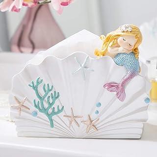 حورية البحر غطاء منشفة ورقية، طاولة القهوة صندوق تزيين منشفة ورقية، لطيف الكرتون مطعم صينية ، ديكور المنزل الأزياء الإبداعية