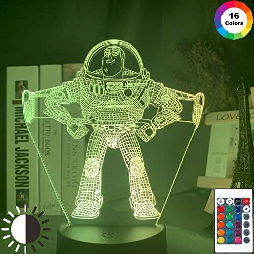 Sanzangtang Led-nachtlampje, 3D-vision-zeven-kleuren, verrekijker, film-cartoon-figuur, glijbaan, holografische lamp voor thuiskantoor, ruimtedecoratie, roman, nachtlampje, fakkel