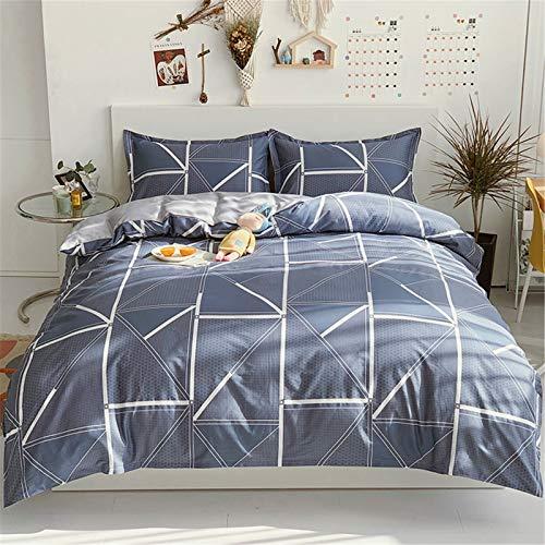 Ropa De Cama De Moda Nórdica Textiles para El Hogar Funda Nórdica Funda De Almohada Material De Algodón Puro Cómodo Y Transpirable Conjunto De 4 Piezas 200x230cm