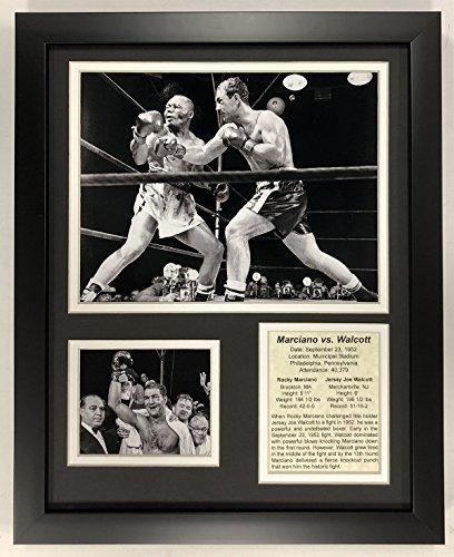 Legends Never Die Rocky Marciano Versus Jersey Joe Walcott 1952 covid 19 (Double Framed Photograph coronavirus)