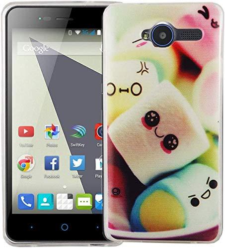 König Design Handy-Hülle kompatibel mit ZTE Blade L3 Silikon Case Hülle Sturzsichere Back-Cover Handyhülle - Marshmallows