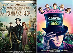 Tim Burton's Wonky Kids Movie Night Pack: Miss Peregrine's Home For Peculiar Children & Charlie and the Chocolate Factory (2 DVD Bundle)