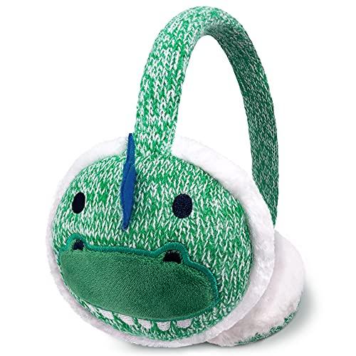 Girls and Boys Earmuffs, Kids Knitted Earmuffs with Animal Pattern