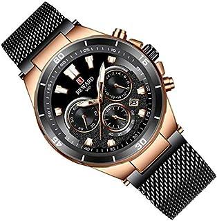 Comfortable Generous تنورة Mens Watch Waterproof Multifunction Wrist Watches Stainless Steel Mesh Strap Casual Watch Analo...
