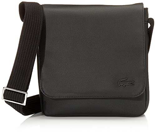 Lacoste NH2341HC Men's FlapCrossoverBag Messenger Bags, Black, One Size