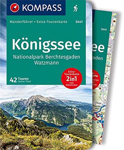 KOMPASS Wanderführer Königssee, Nationalpark Berchtesgaden, Watzmann: Wanderführer mit Extra-Tourenkarte 1:35.000, 42 Touren, GPX-Daten zum Download.