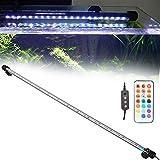 39 luces LED RGB para acuario, luz acuario, tubo impermeable y sumergible para acuario de 71 x 1,8 cm, 7 W (EU110-240 V)