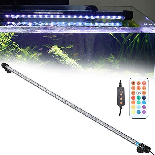 Zerone Luce RGB per Acquario,39 Pezzi LED Luce per Acquario Marino,Luce Acquario a Tubo Impermeabile e Sommergibile Plafoniera LED Acquario Dolce,Lampada LED per Acquario 71x1,8 cm,7W(EU110-240V)