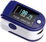 IMKRC - Pulsossimetro per dita con saturazione dell'ossigeno nel sangue con frequenza cardiaca e misuratore di ossigeno preciso veloce Spo2, ossimetro portatile