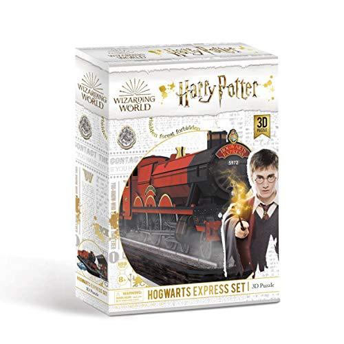 3D Puzzle Harry Potter 5972 Hogwarts Express Set, Einschließlich Platform 9 ¾ und Flugauto - 180 Stück