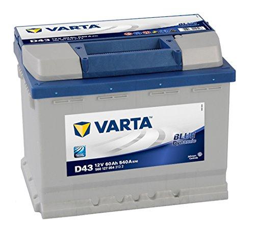 VARTA 5.60127E+12 Autobatterien Blue Dynamic D43 12 V 60 mAh 540 A