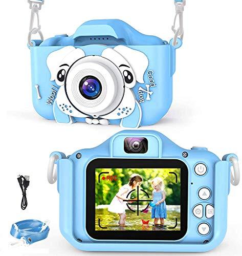 Soyerras Fotocamera per Bambini, Doppia Fotocamera Digitale da 20,0 MP Ricaricabile con Schermo IPS da 2,0 Pollici, Regali di Ragazze di 3-12 Anni (Blu)