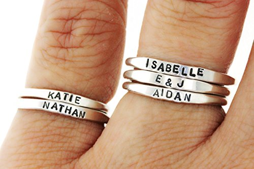 *shipping daily!* Teeny Tiny Stacking Sterling Silver Ring By Hannah Design Personalized Ring
