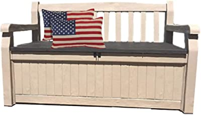 Amazon.com : Valencia Dark Brown Leather Nail Head Bench ...