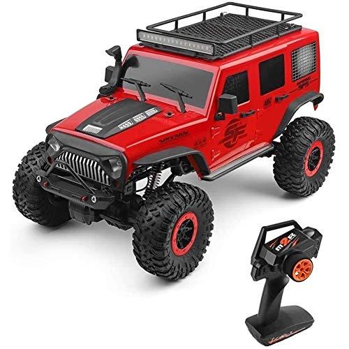 VanFty Control remoto RC coche 2.4G 1/10 4WD 4x4 Off Road Monster Truck Rock Crawler RC Coches campo a través orugas de vehículos de juguete de alta velocidad del coche SUV cepillado coche de motor de