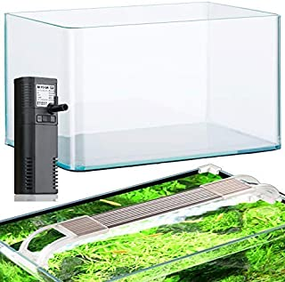 Acuarios acuario 12,5 litros de cristal filtro y luz LED