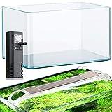 BETTASHOP.ES ACUARIOS Acuario 12,5 litros DE Cristal Little Cold con Filtro Y LUZ LED